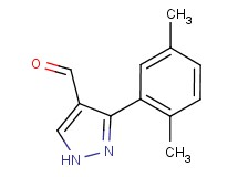 3-(2,5-dimethylphenyl)-1H-pyrazole-4-carbaldehyde