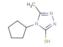 4-cyclopentyl-5-methyl-4H-1,2,4-triazole-3-thiol