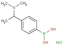 {4-[1-(dimethylamino)ethyl]phenyl}boronic acid hydrochloride