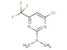 4-chloro-N,N-dimethyl-6-(trifluoromethyl)pyrimidin-2-amine