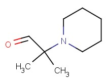 2-methyl-2-(1-piperidinyl)propanal
