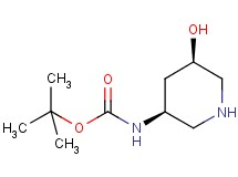 tert-butyl [cis-5-hydroxy-3-piperidinyl]carbamate