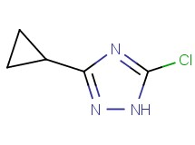 5-chloro-3-cyclopropyl-1H-1,2,4-triazole