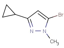 5-bromo-3-cyclopropyl-1-methyl-1H-pyrazole