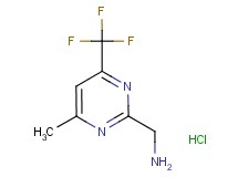 {[4-methyl-6-(trifluoromethyl)-2-pyrimidinyl]methyl}amine hydrochloride