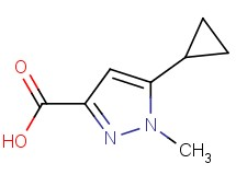 5-cyclopropyl-1-methyl-1H-pyrazole-3-carboxylic acid