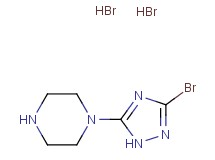 1-(3-bromo-1H-1,2,4-triazol-5-yl)piperazine dihydrobromide