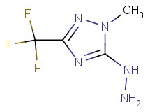 5-hydrazino-1-methyl-3-(trifluoromethyl)-1H-1,2,4-triazole