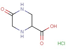 5-oxo-2-piperazinecarboxylic acid hydrochloride