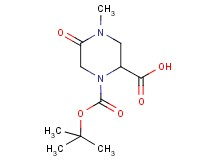 1-(tert-butoxycarbonyl)-4-methyl-5-oxo-2-piperazinecarboxylic acid