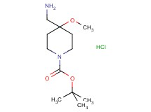 tert-butyl 4-(aminomethyl)-4-methoxy-1-piperidinecarboxylate hydrochloride