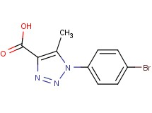 1-(4-bromophenyl)-5-methyl-1H-1,2,3-triazole-4-carboxylic acid